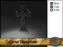 Halloween Cross Headstone
