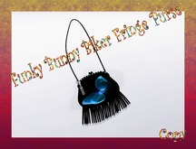 Purse - Funky Bunny Biker Fringe Purse{Black}