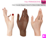 Full Perm MAP Mesh Elegant Hand To Wear Under Sleeves - Meli Imako