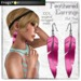 Frogstar - Hot Pink Feathered Earrings