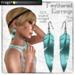 Frogstar - Blue Feathered Earrings