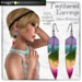 Frogstar   feathered earrings poster %28akira%29