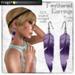 Frogstar - Purple Feathered Earrings