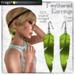 Frogstar - Green Feathered Earrings