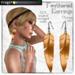 Frogstar - Orange Feathered Earrings