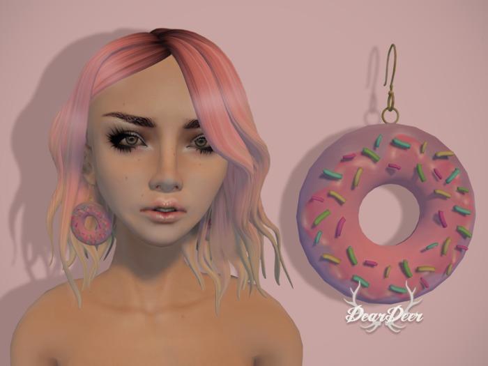 ~Dear Deer~ Donut Earrings Pastel