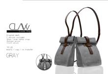 C L A Vv. Suede Bag Gray