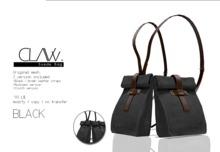 C L A Vv. Suede Bag Black
