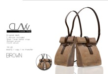 C L A Vv. Suede Bag Brown