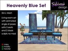 Heavenly Blue - Living Room Set