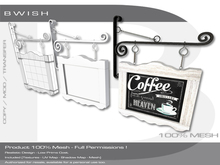 BWish - Vintage Sign Board Mesh Full Permissions