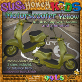 SUS HoneyKids Motorscooter yellow