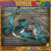 SUS HoneyKids Motorscooter mint