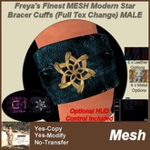 Freya's Finest MESH Modern Star Pair of Bracer Cuffs MALE