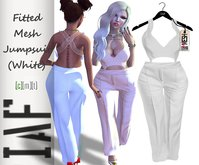 IAF Fitted Mesh Jumpsuit (White)