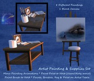 Artist painting easel paint canvas and supplies set (boxed)