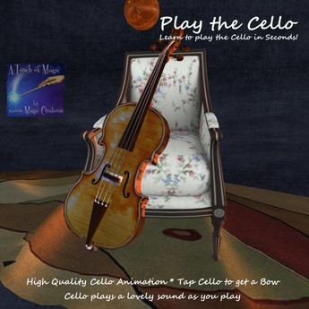 Play the cello with chair and bow (boxed)