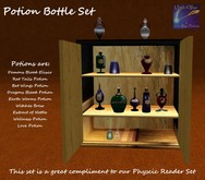 Magic Potion cabinet and bottles transfer bottles (boxed)