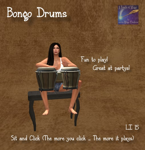 Bongos with sounds , seat, and animation