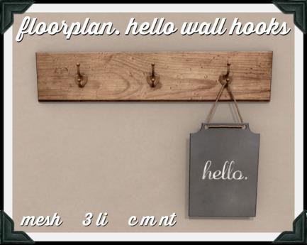 floorplan. hello wall hooks [boxed]