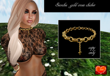 savoha  gold cross choker ## *SALE*