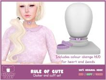 .:Buttery Toast:. The rule of cute - choker - Purple