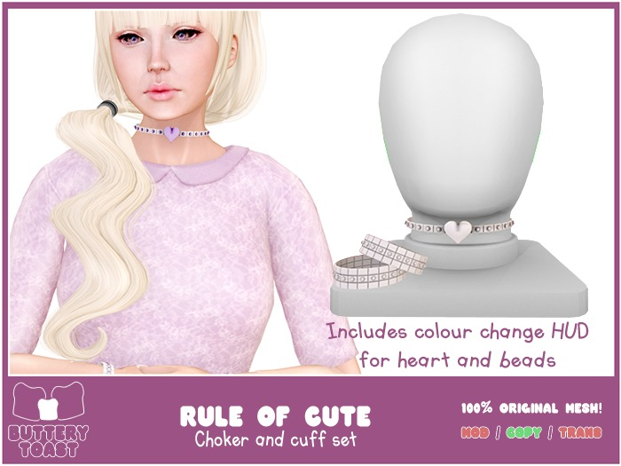 .:Buttery Toast:. The rule of cute - choker - Silver