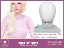 .:Buttery Toast:. The rule of cute - choker - Blue