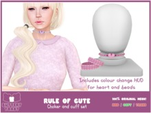 .:Buttery Toast:. The rule of cute - choker - Pink