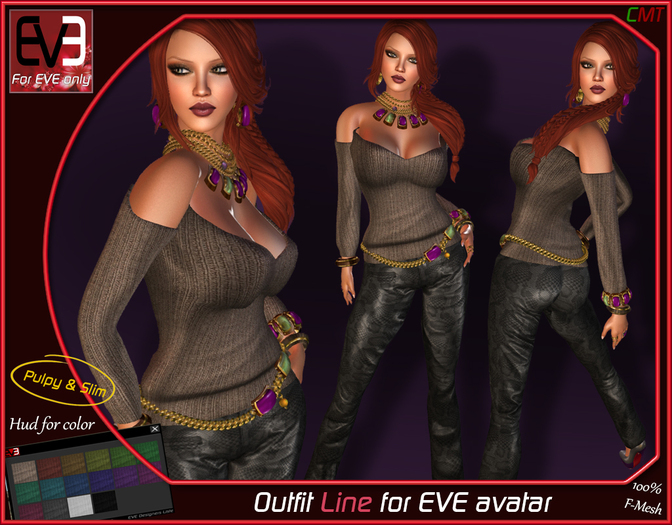 """*!* Outfit Line for EVE """"for all version Pulpy & Slim """""""
