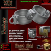 KDC Heavy Metal wrist cuffs