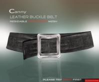 DarkFire-Canny Leather Belt-Black(non-rigged)