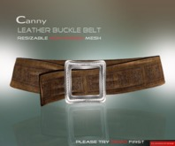DarkFire-Canny Leather Belt-Brown(non-rigged)