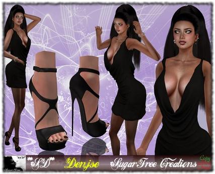 **SD** -Denjse-High Heels Outfit - Black