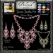Beloved Jewelry : Jasmin Set with Earrings and Necklace (Texture Change) Silvers, Platinum, Golds, 12 Gems, Partial Mesh