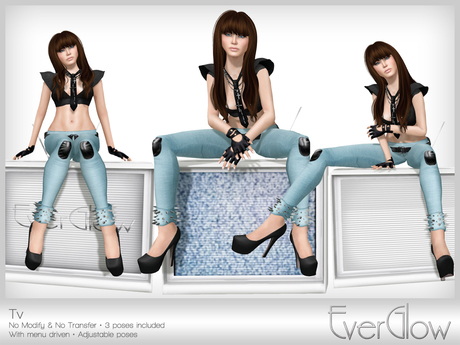 *EverGlow* - Old Tv poses (FREE!)