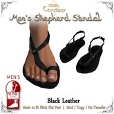[DDD] Men's Shepherd's Sandals - Black