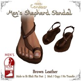 [DDD] Men's Shepherd's Sandals - Brown