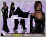 **SD** -Debhora-High Heels Outfit - Black 4.4 Leather/Lathex mix dress with  Collar and shoes- Dress Black Mesh Rigged