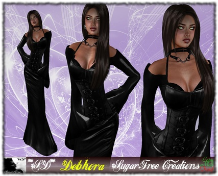 **SD** -Debhora(DRESS) - Black Latex/Leather