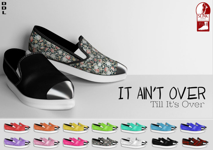 [DDL]  It Ain't Over Til It's Over (Black) (for Slink Feet Female Flat)