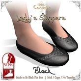 [DDD] Lady's Slippers - Black