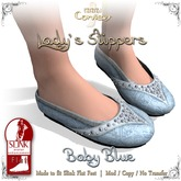 [DDD] Lady's Slippers - Baby Blue