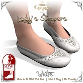 [DDD] Lady's Slippers - White