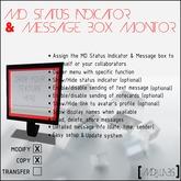 MD Status Indicator & Message Box Monitor