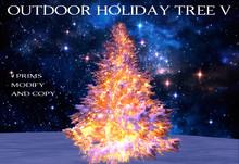 Outdoor Lighted Holiday Tree V