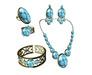 *AvaWay* Bracelet & Ring & Earrings & Necklace # 3 Jewelry