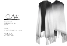 C L A Vv. Fringed Knitted Cape Ombre