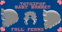 Mesh Baby Bonnet For Totsipop