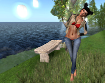 Skinny Jeans Navy bleached - (tm) freeaky